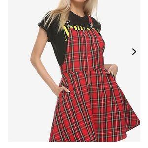 Hot Topic plaid dress jumper Size S/M